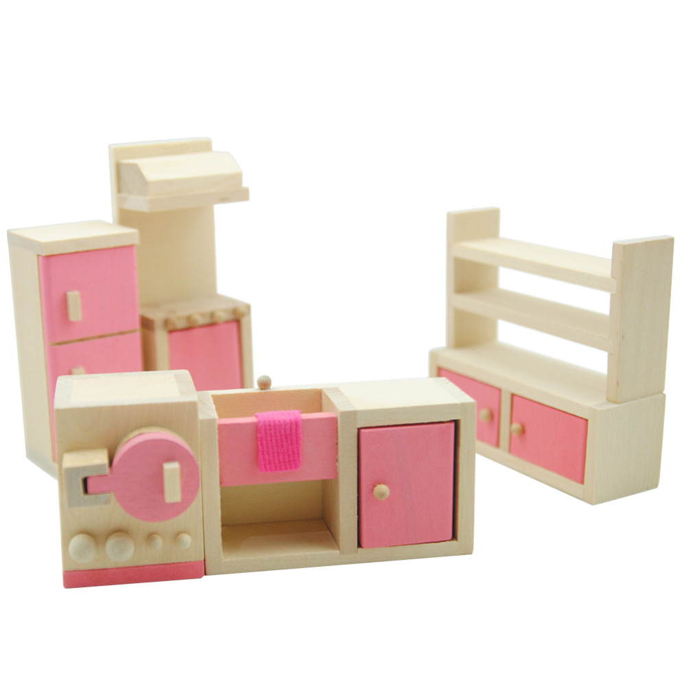 Simulation Miniature Wooden Furniture Toys Doll House Wood Furniture Set  Dolls Baby Room For Kids Play Toy Furniture For Dolls In Furniture Toys  From Toys ...