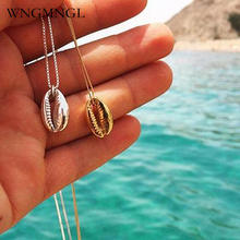 WNGMNGL 2018 Hot Sale Conch Havaiian Shell Summer Beach Pendants Necklace Gold Color Chain Chokers For Women Fashion Jewelry