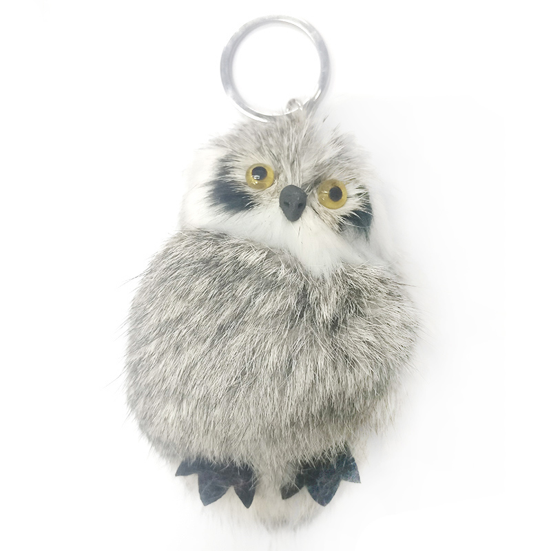 SHOWTRUE 2017 Bunny Rabbit Fur Owl Keychain For Women key chain pompom For Car bag Gift