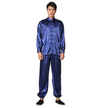 Novelty Gold Men's Satin Pajamas Set Chinese Style Button Pyjamas Suit Soft Sleepwear Shirt&Trousers Nightgown S M L XL XXL женские толстовки и кофты s xxl d0038 s m l xl xxl