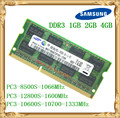 Samsung Laptop memory DDR3 4GB 2GB 1GB 1066 1333 1600 MHz PC3-10600 8500 12800 notebook RAM 10600S 2G 4G