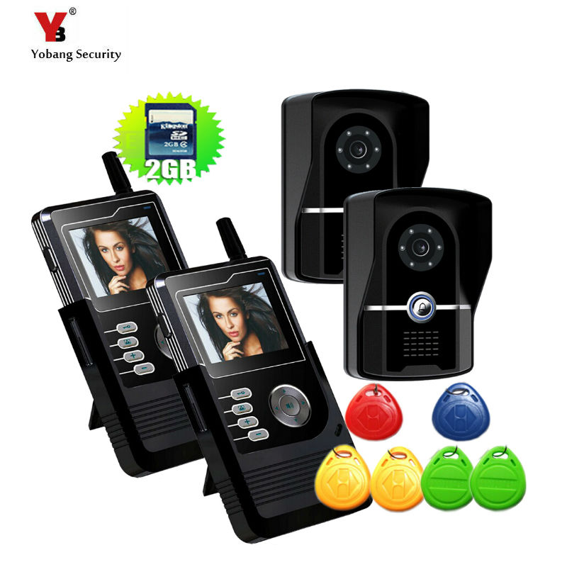 Yobang Security FreeShipping 2.4 inch Wireless Video Doorbell Video intercom Doorbell with Long-Range Wireless Monitoring System freeshipping rs232 to zigbee wireless module 1 6km cc2530 chip