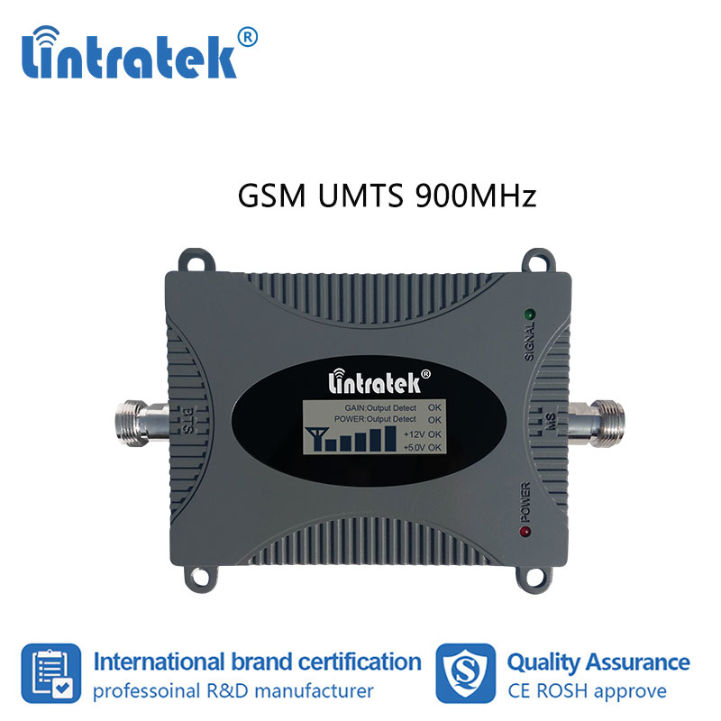 Lintratek 2G 3G 900mhz LCD Display Cellphone Signal Booster GSM UMTS B8 900 Mobile Repeater Amplifier Voice Call Internet  #7-1