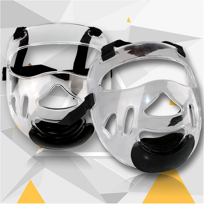 Cheap Karate helmet plastic mask Removable taekwondo helmet headgear face mask TKD fitness guard for kids adult nose protector