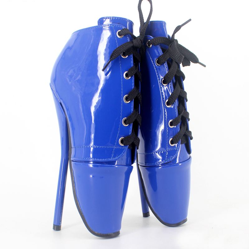 Extrem High Heel 18 Cm Ballet Women Pump Shoes Large Size Patent Leather Multi-Color Women Pumps Size 36 -46 Party Shoes ballet shoes