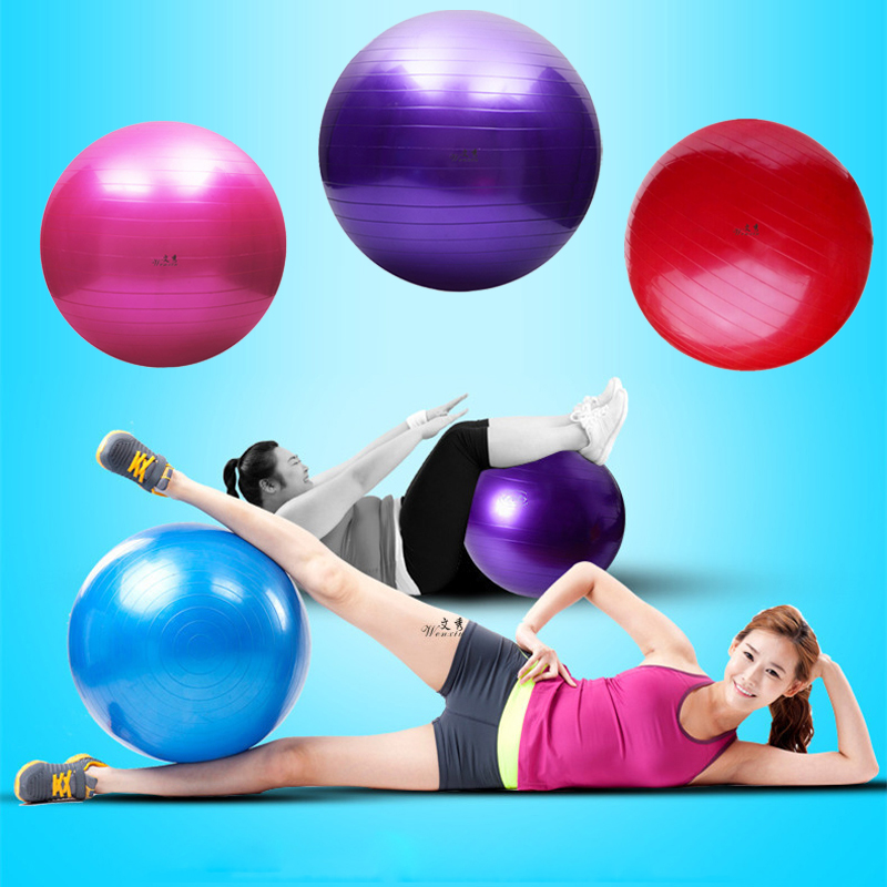 Sports Yoga Ballon Bola Pilates Fitness Ball Equipment Gym Balance Exercise Fitball PVC Workout Massage Ball 25cm 65cm 75cm 85cm
