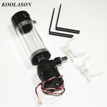KOOLASON SC600 110mm 140mm 190mm DC12V Computer Water Cooling Cooler Acrylic Cylindrical Transparent water tank Pump box 3PIN