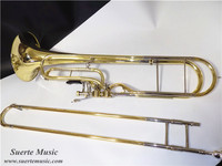 F Key Contrabass Trombone Yellow Brass Body with Case and Mouthpiece musical instruments professional