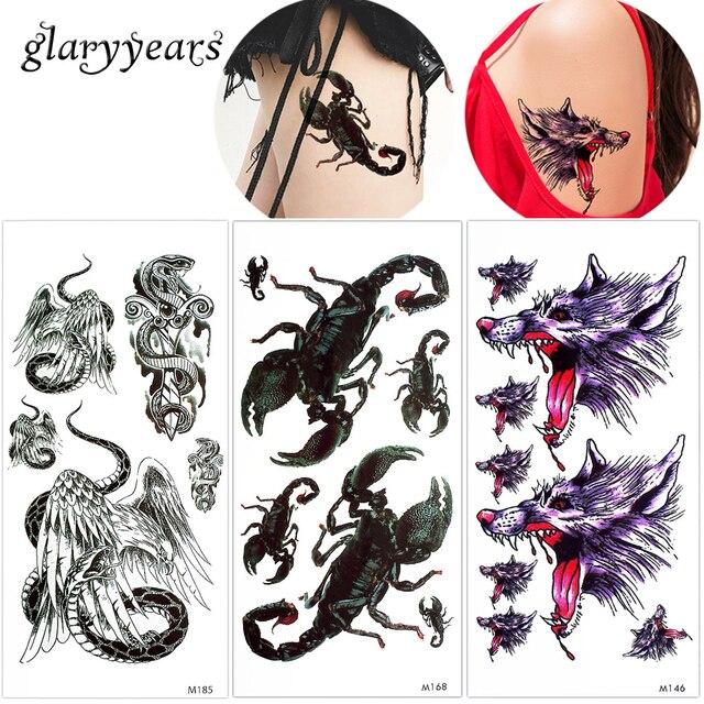 1 Piece Temporary Tattoo Sticker Water Transfer Wing: Glaryyears 1 Piece Temporary Tattoo Body Makeup Sticker