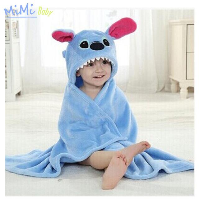 Flanela de Algodão do bebê Toalha de Banho Dos Desenhos Animados Toalha de Banho Cap Bebê Recém-nascido Espera Roupões de banho de Toalha Com Capuz toalha de banho de Cuidados Com o Bebê