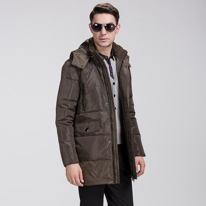 2016 parka men Mens down coat winter down jacket White duck down stand collar