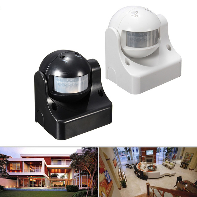 c2230759cba9 110-240V 50Hz 180 Degree Outdoor Security PIR Infrared Motion Sensor  Detector Movement Switch Two color 12 Meter free shipping