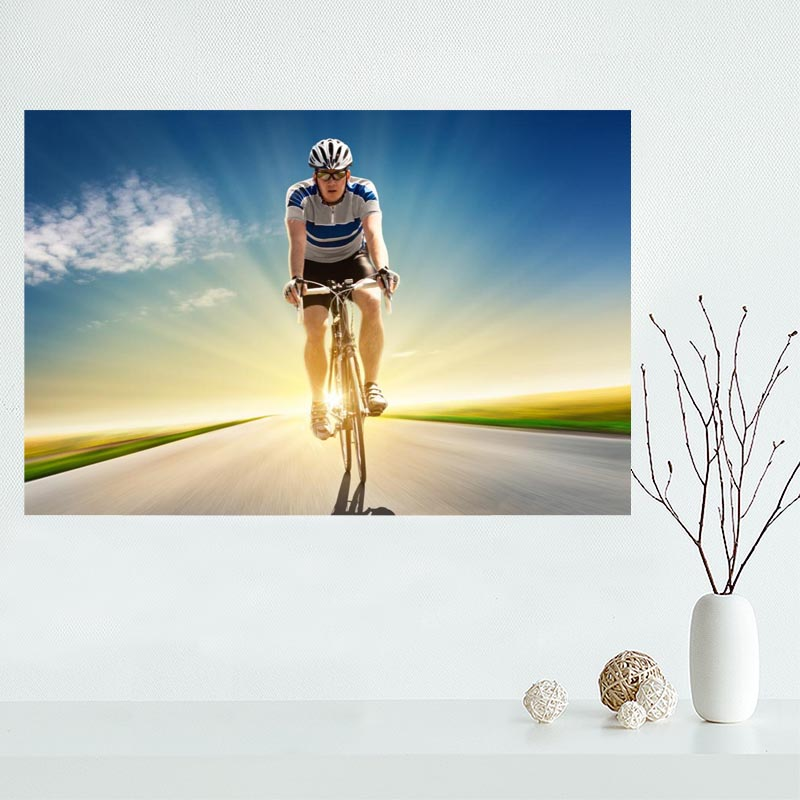 Custom canvas poster bike,race,speed,color,cycling canvas painting ...