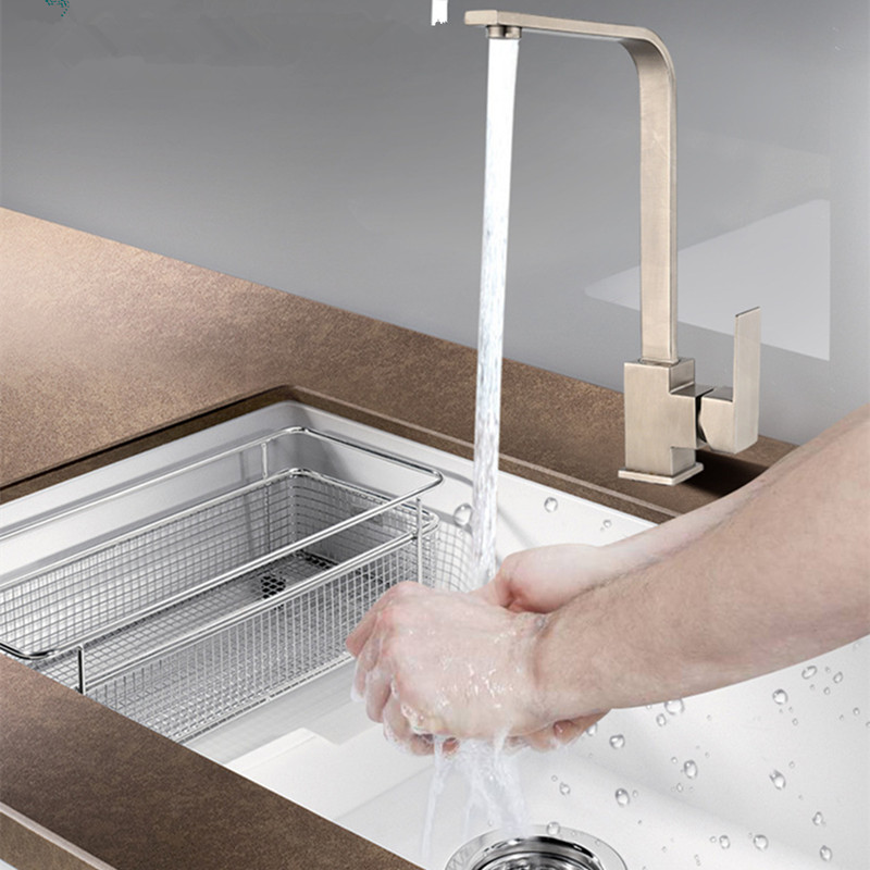Single Handle One Hole Brushed Kitchen Faucet Cucina Rubinetto Mix Cold and Hot Water Rubinetto Tap Faucet Free Shipping 58075