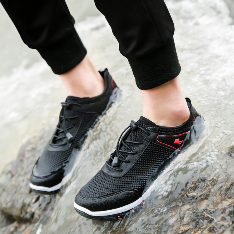 New Style Summer shoes breathable mesh shoes outdoor climbing  Lace - Men's Shoes - Photo 2