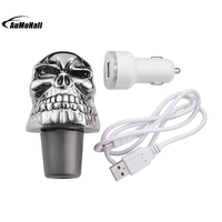Carved Skull Head Stick Gear Shift Knob Shifter Lever Touch Activated