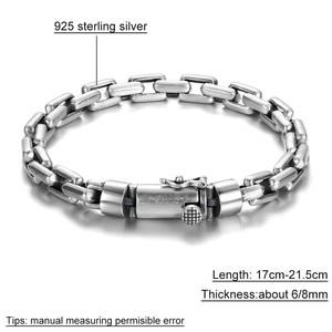 Image 5 - GAGAFEEL 6/8MM Male Bracelet 925 Sterling Silver Jewelry Punk Bangles Bracelets for Men Mens Fashion Jewelry