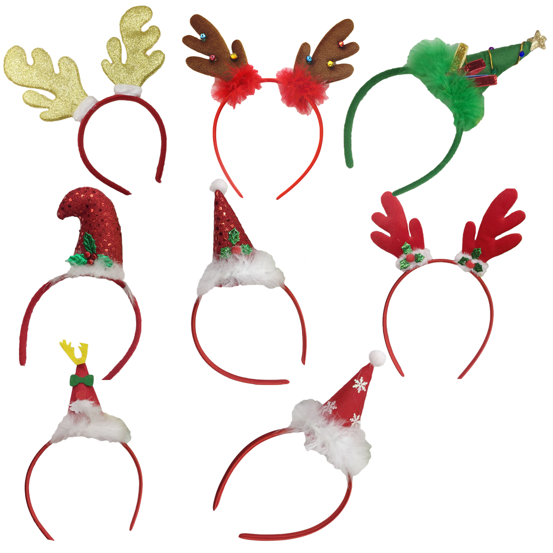 Cute New Hot Christmas Headband Party Decor Double Hair Band Clasp Head Hoop christmas hair accessories Women in Women 39 s Hair Accessories from Apparel Accessories