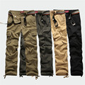 Classic Men's Cargo Pants high quality Pure Cotton Casual Multi Pocket solid color man trousers Men Long pants