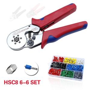 Cores ferramenta de friso cabo friso alicate hsc8 6-6 clipe fio stripper cortador alicate conjunto terminal elétrico crimper mini ferramentas