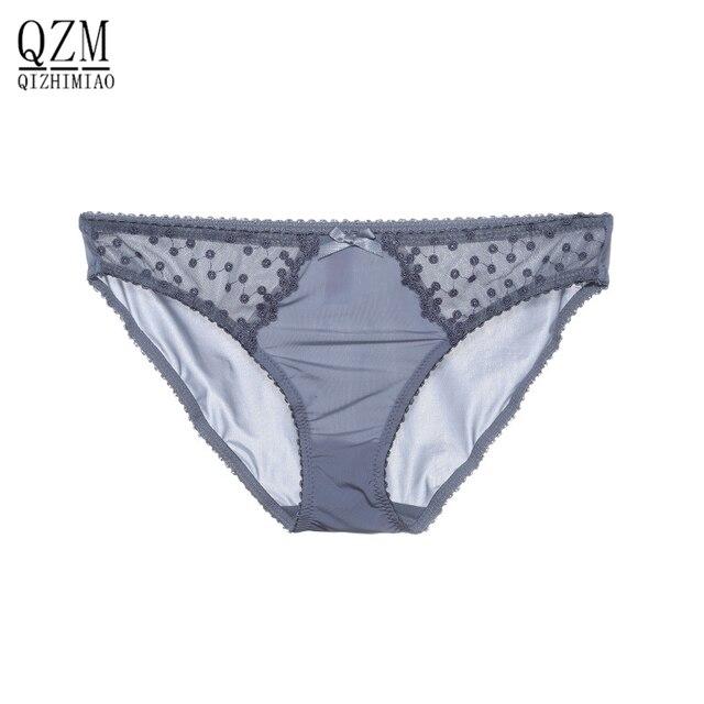 79e194ccb QIZHIMIAO Preto Baixo Crescimento Cuecas Sensuais Cuecas de Renda Mulheres  Calcinha Branca Top de Renda Floral