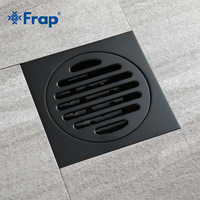 Frap Modern Pure Black Waste Drainer Ordinary Bathroom Toilet Bathroom Balcony Rapid Drainage Tile Insert Square Drains Y38106