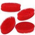 Ultra macio Silicone gel de banho e duche de massagem cabeça da escova escova de massagem shampoo toque suave escova de limpeza