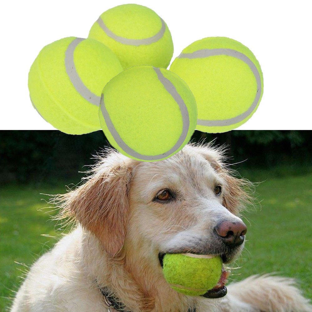 4PCS/Pack 6cm Tennis Ball Giant Pet Toy Tennis Ball Dog Chew Toy Signature Mega Jumbo Kids Toy Ball Outdoor Pets Supplies