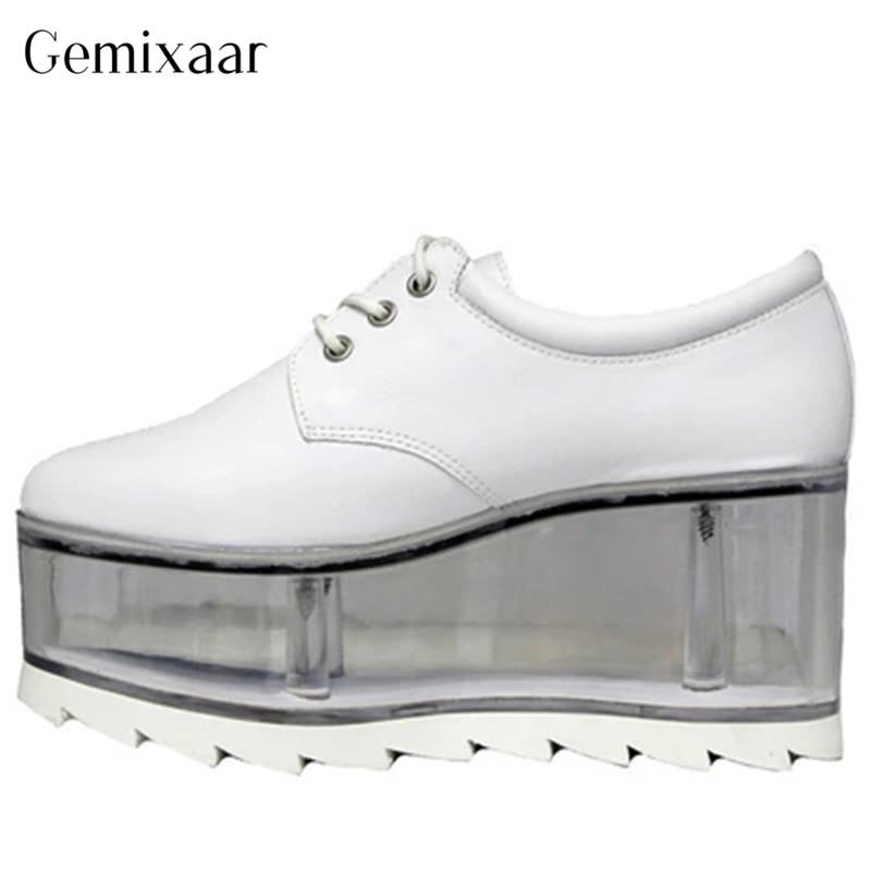 Neutral Casual Party Shoes Novely Lace-up Cow Leather Flat Platform Concise Round Toe Solid Women Shoes Pigskin Thick Heel ShoesNeutral Casual Party Shoes Novely Lace-up Cow Leather Flat Platform Concise Round Toe Solid Women Shoes Pigskin Thick Heel Shoes