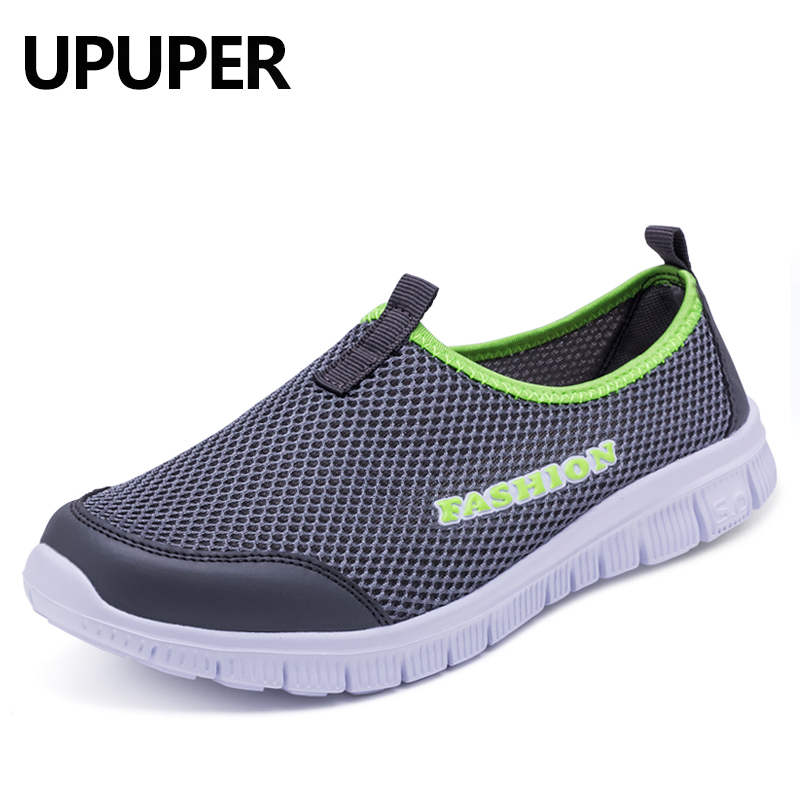 2018 New Men Light Sneakers Summer Breathable Mesh Male Cheap Casual Shoes Dad Walking Outdoor Sport Comfortable Big Size:38-46