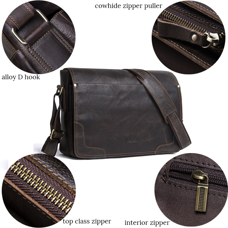 a096aa2ee9ee94 Mens Leather Bags Male Bag Shoulder Man Crossbody For Laptop Briefcase  Portfolio
