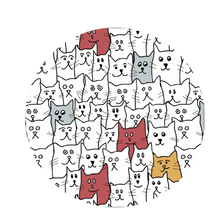 Crowd of Cats Pop Socket