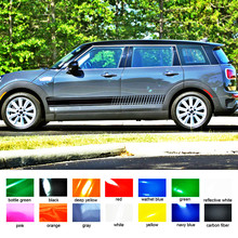 Car stickers gradient racing styling side door stripe graphic vinyl car sitkcer for the mini clubman