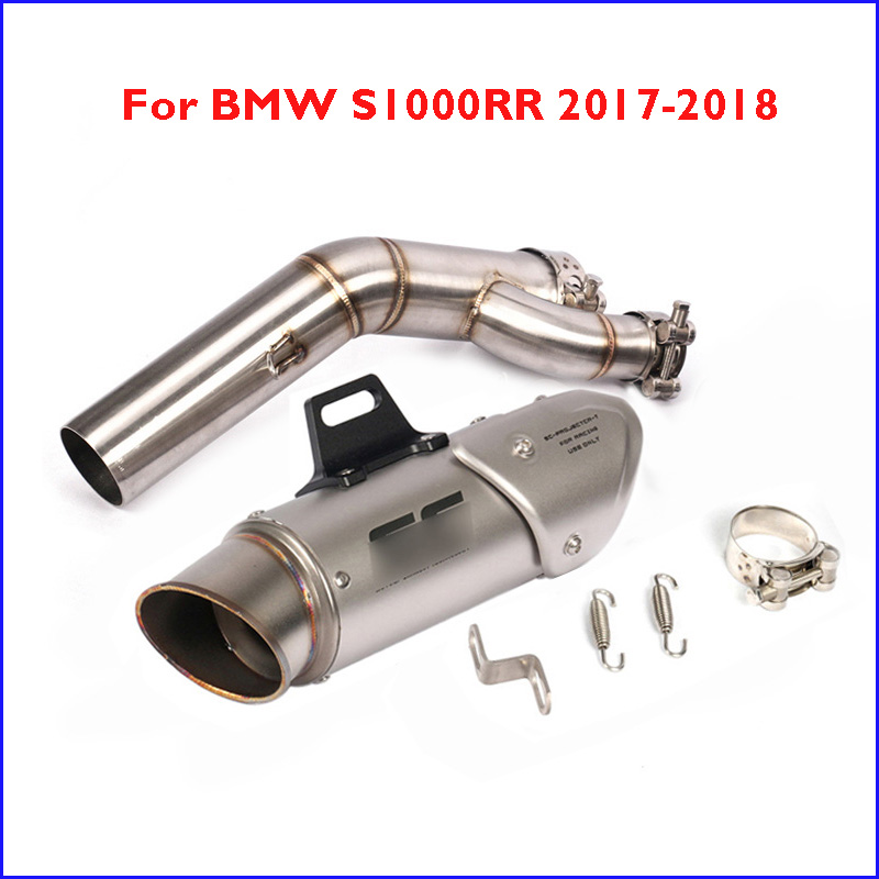 Pour BMW S1000RR 2017 2018 moto système d'échappement échappement silencieux connecter Section milieu lien Tube tuyau modifié S1000RR