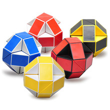 24 Blocks Ruler Magic Cube Puzzle  Magic Ruler Cube Snake Twist Puzzle Educational Toy for Children 6 Youth Adult Boy Girl color random 48 blocks cube children s educational snake ruler cubes spinner puzzle imagination game toy