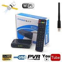 Mini Size 1080P HD DVB S2 Digital Satellite Receiver Tv Box Internet Share IKS Decoder Support
