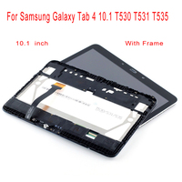 STARDE Replacement LCD For Samsung Galaxy Tab 4 10.1 T530 T531 T535 LCD Display Touch Screen Digitizer Assembly Frame 10.1