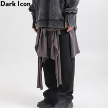 Dark Icon Cargo Pants Men High Street Fashion Mens Full Length Dance Man