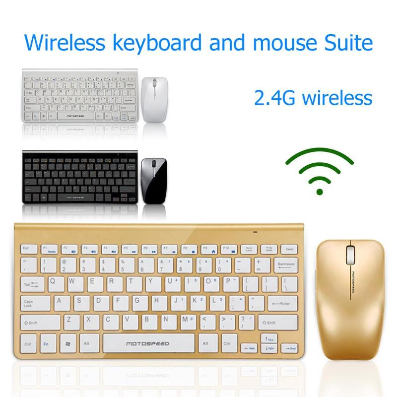 Image 4 - Motospeed G9800 2.4GWireless Keyboard and Mouse Multimedia Keyboard Mouse Combo Set For Notebook Laptop Mac Desktop PC TV Office-in Keyboards from Computer & Office