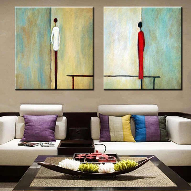 2 panel paintings gifts modern home decor wall art