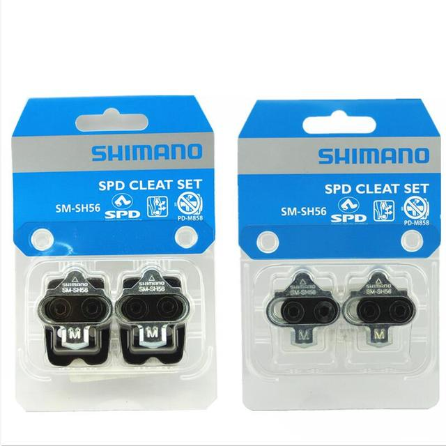 c3ca6116a1d8 Shimano SPD SM-SH51 SM-SH56 Cleats Pair Single Release/ Multi-Release Pedal  Cleats w/ Cleat Nut Plates Float Mountain sh51 sh56