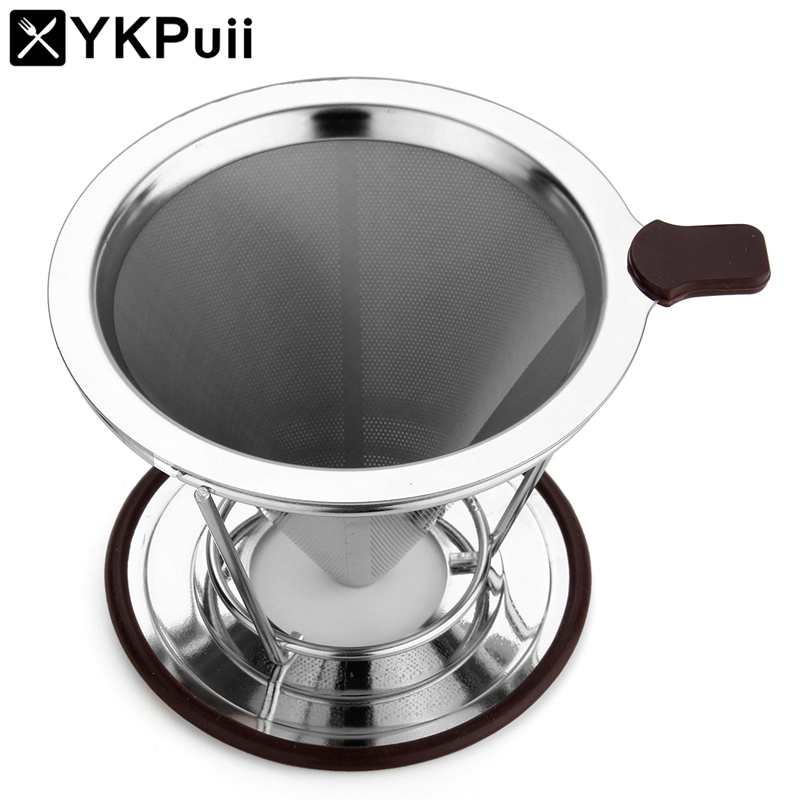 Stainless Steel Coffee Filter Dripper Paperless Pour Over Maker Drip Reusable With Cup Stand Holder In Filters From Home