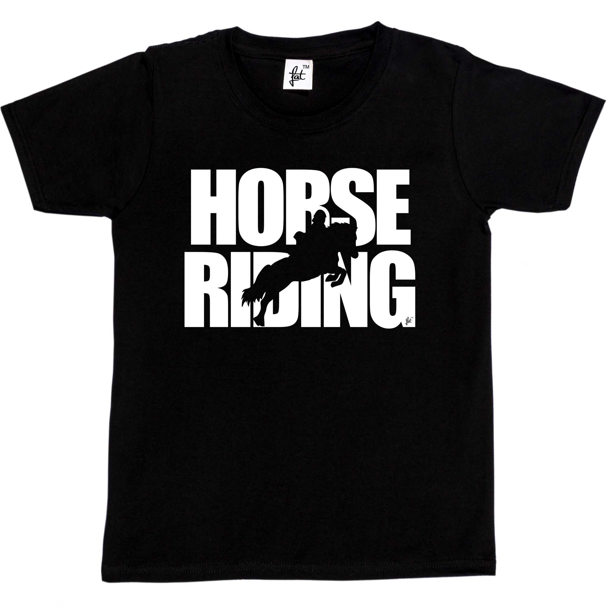 Womens T -Shirt Horse Riding - Horse Jumping Silhouette Kids / Girls T-Shirt ...