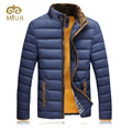 2016 Khaki Yellow Blue 3XL Plus Size Down Parkas Winter Hot Thick Stand Collar Fur Winter Jacket Men Brand Clothing