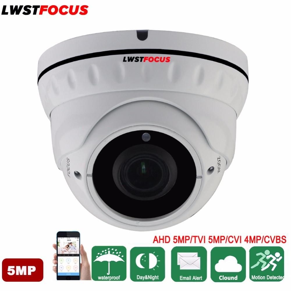 LWSTFOCUS Varifocal 2.8-12mm 5MP AHD TVI Camera 4MP CVI Camera Surveillance Camera Waterproof Dome CCTV Camer 30M Nightvision