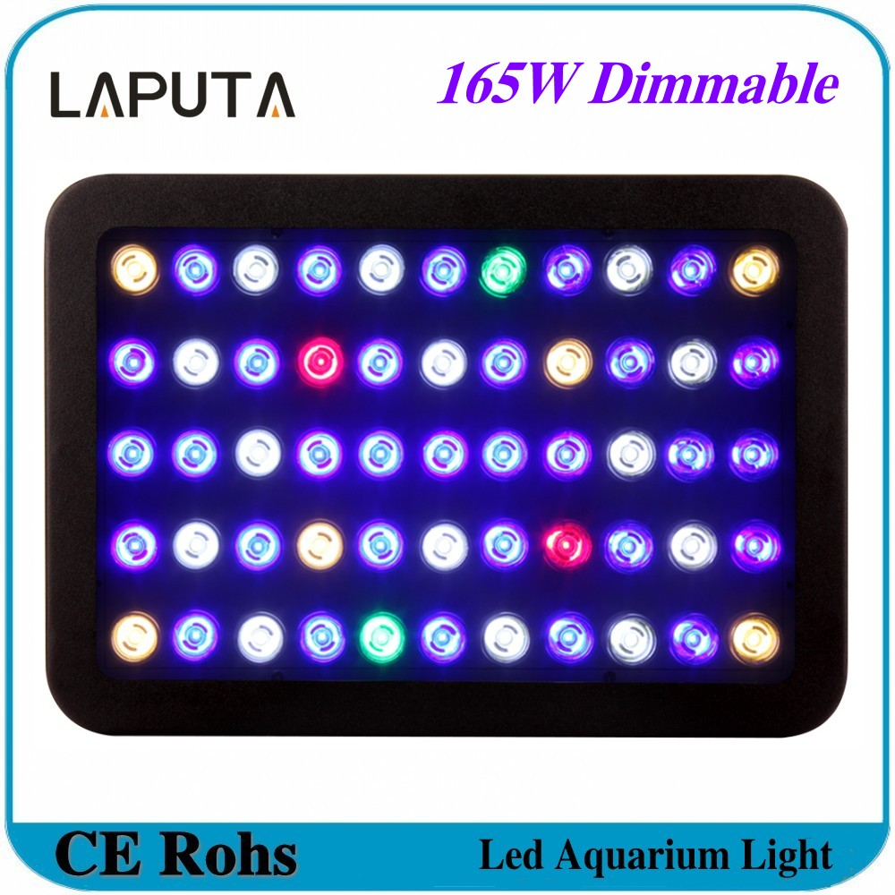 Nano led aquarium fish tank lighting - 1pcs Laputa Newest Dimmable 165w Led Aquarium Light High Quality Aquarium Led Lighting For Coral Reef Fish Tank Lighting Lamp