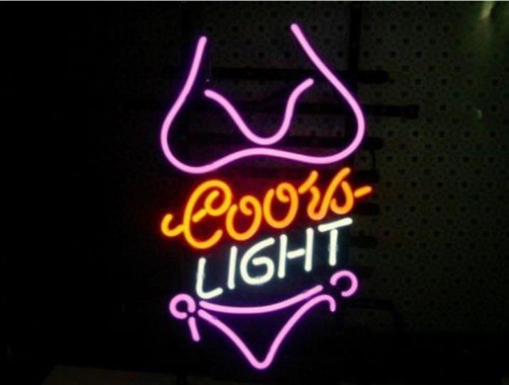 Business Custom Neon Sign Board For Bikini Girl Purple