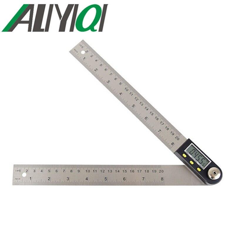 400mm Digital Angle Finder Backlit Dual Spirit Protractor Ruler Meter Goniometer