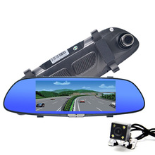Car Camera 6.5 inch Car DVR Dual Lens Review Mirror Full HD 1080P Digital Video Recorder Registrator Camcorder Dashcam