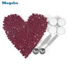 Mogoko стиль воск уплотнение бусины 300 шт. Octagon палочки с соединяющим материалом с 4 свечи и 2 плавления ложки для печать штамп